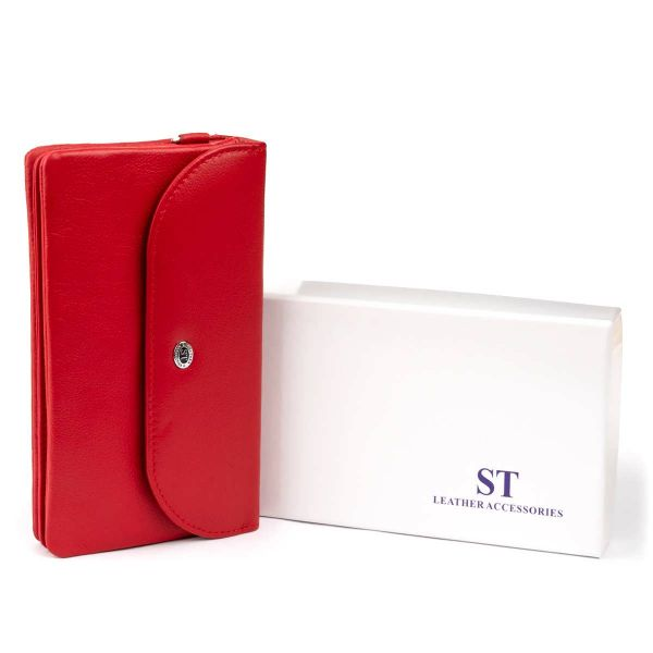 Клатч из кожи женский ST Leather 19321 красный