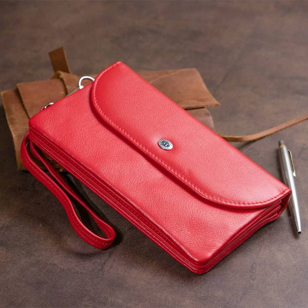 Клатч зі шкіри жіночий ST Leather 19321 червоний