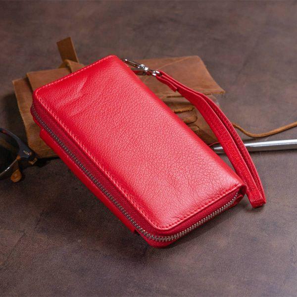 Кошелек из кожи на защелке ST Leather 19343 Красный