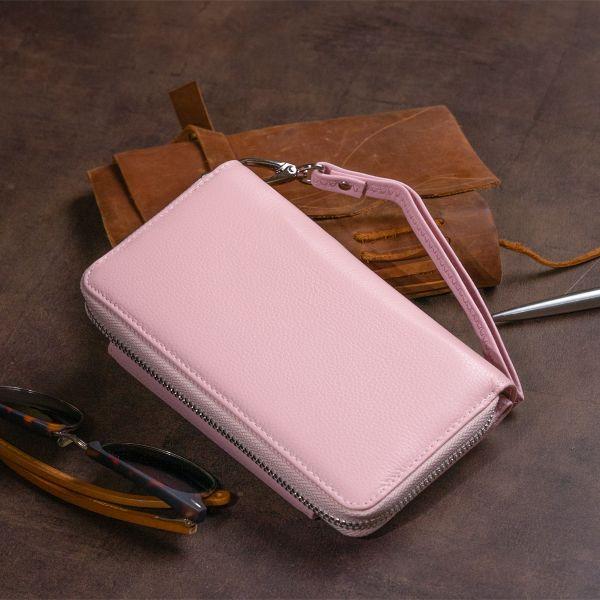 Кошелек из кожи на щеколде ST Leather 19344 розовый