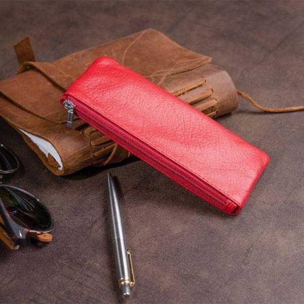 Ключница-кошелек с карманом женская ST Leather 19347 красная