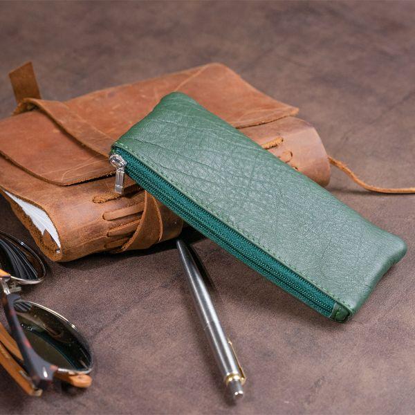 Ключниця-гаманець з кишенею унісекс ST Leather 19348 зелена