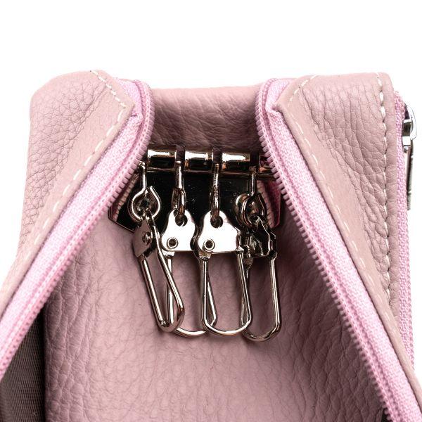 Ключниця-гаманець з кишенею унісекс ST Leather 19350 лілова