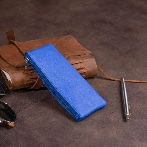 Ключница-кошелек с кармашком унисекс ST Leather 19351 Синяя