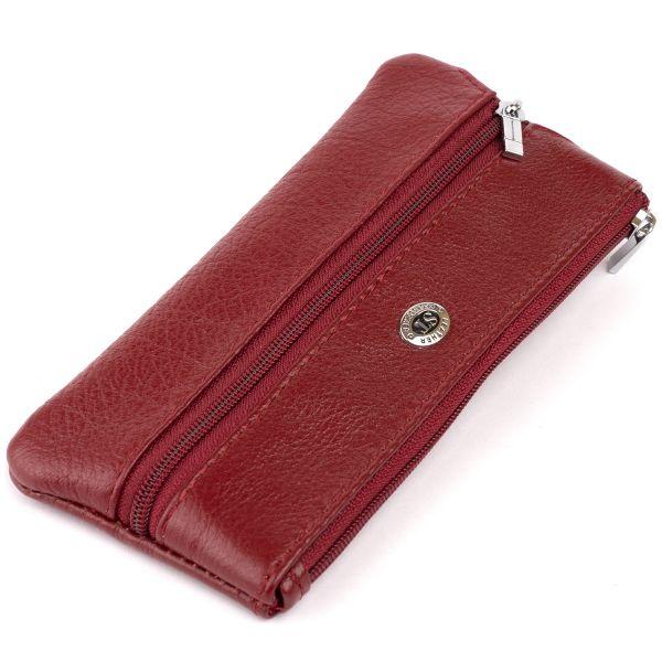 Ключница-кошелек с кармашком женская ST Leather 19352 бордовая
