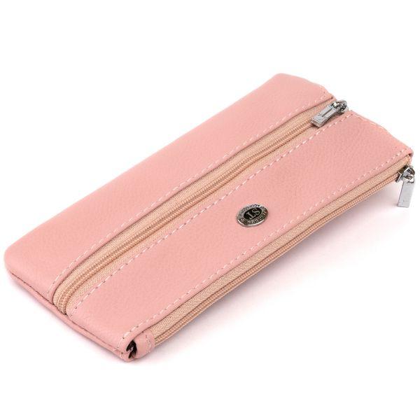 Ключница-кошелек с карманом женская ST Leather 19353 розовая