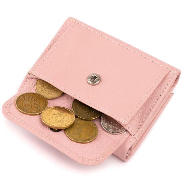 Маленькое портмоне из кожи женское ST Leather 19357 розовое
