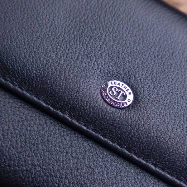 Кошелек с кармашком на лицевой стороне женский ST Leather 19367 черный
