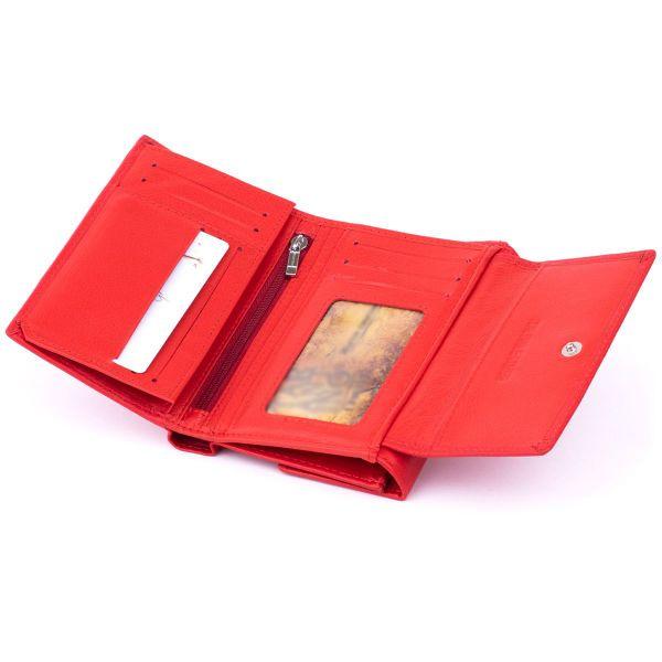 Кошелек горизонтальный женский из двух частей ST Leather 19368 Красный