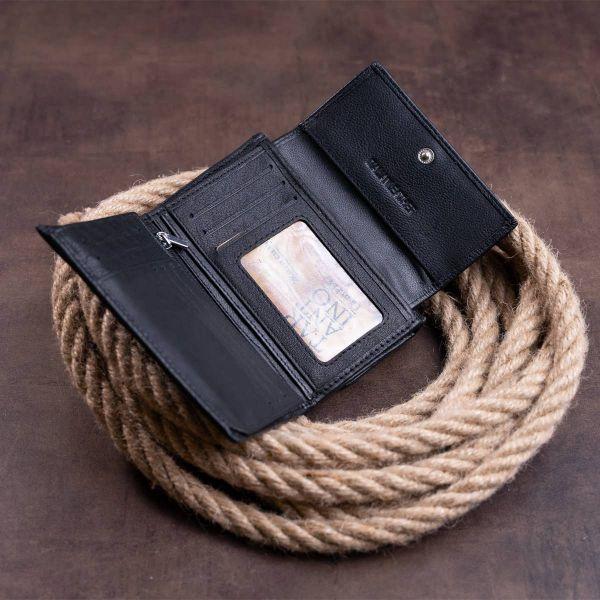 Кошелек горизонтальный женский из двух частей ST Leather 19369 черный