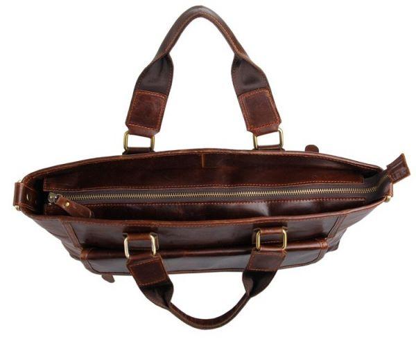 Сумка мужская Vintage 14245 для ноутбука 15.6 дюйма коричневая