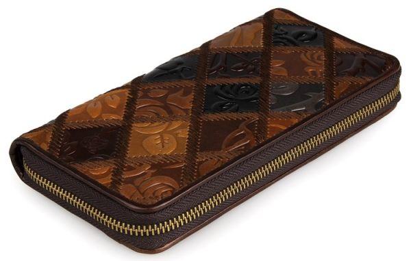 Кошелек женский Vintage 14348 на молнии коричневый