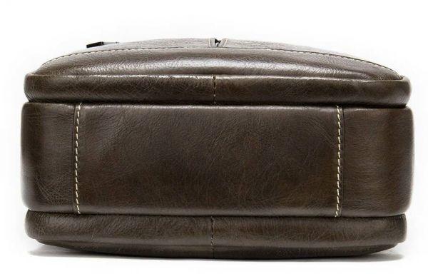 Кожаный средний мужской месенджер на два отделения 20341 Vintage Коричневый