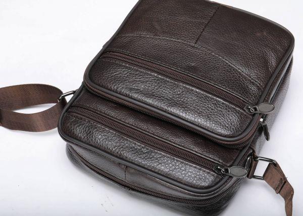 Мессенджер мужской кожаный 20346 Vintage Коричневый