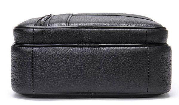 Мессенджер мужской кожаный 20347 Vintage Черный