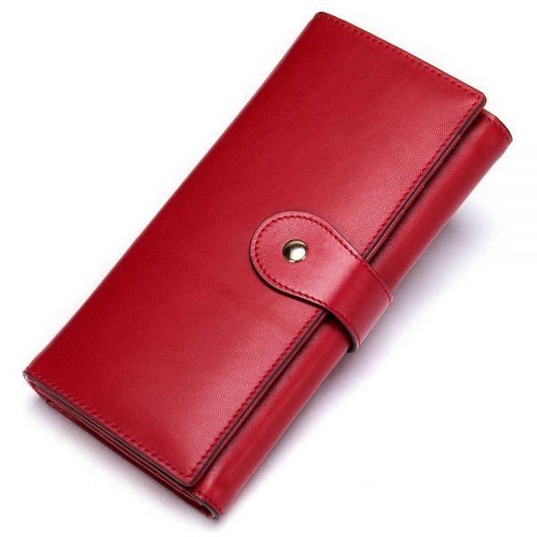 Кошелек женский вертикальный Vintage 20356 Красный
