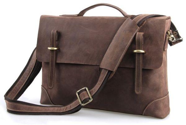 Портфель Vintage 14441 в винтажном стиле коричневый