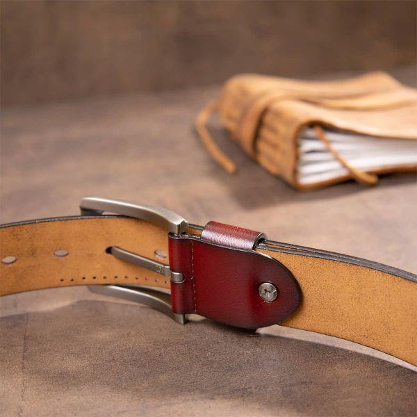 Ремень с дырками мужской Vintage 20381 Коричневый