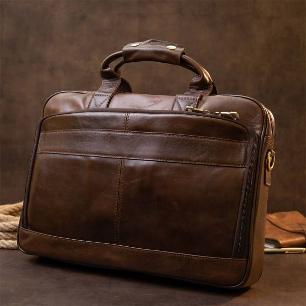 Сумка для ноутбука Vintage 20391 коричневая