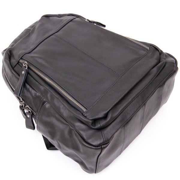 Рюкзак женский городской в гладкой коже Vintage 20398 Черный
