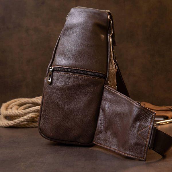 Сумка кросс боди Vintage 20402 Серо-коричневая
