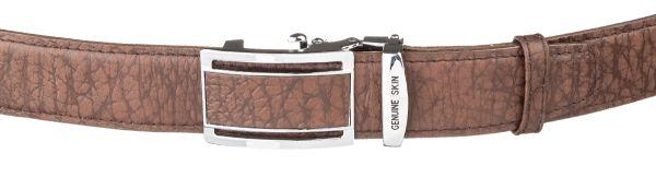 Ремень-автомат мужской Accessory Collection 18139 из натуральной кожи коричневый