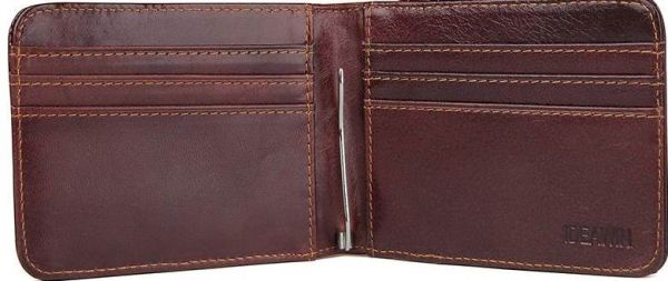Зажим для купюр Vintage14513 коричневый