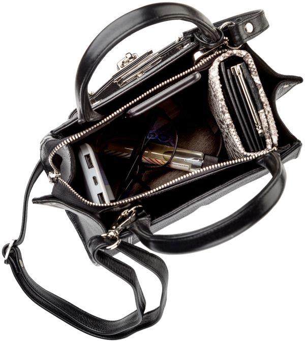 Сумка STINGRAY LEATHER 18220 из натуральной кожи морского ската черная