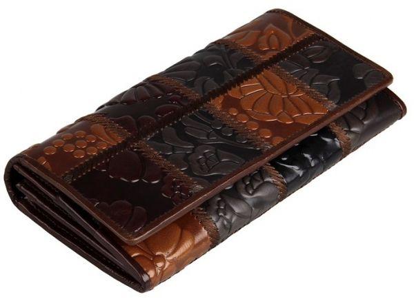 Кошелек женский Vintage 14350 кожа коричневый