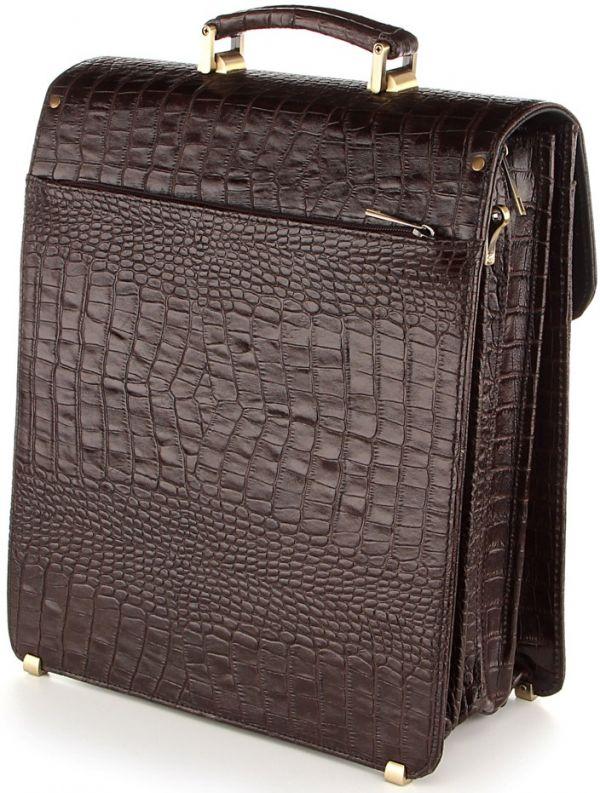 Портфель SHVIGEL 00361 из натуральной кожи коричневый