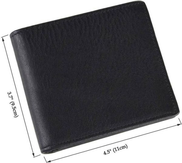 Бумажник мужской Vintage 14516 кожаный черный