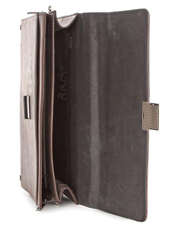 Портфель SHVIGEL 00752 из винтажной кожи коричневый