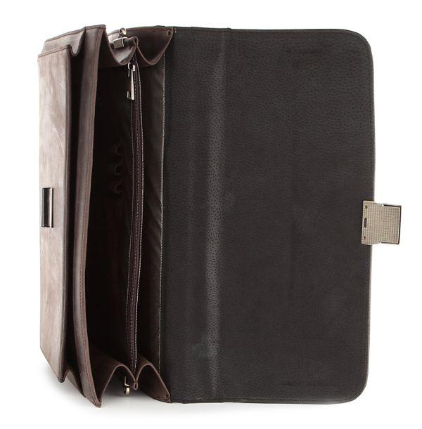 Портфель SHVIGEL 00754 из винтажной кожи коричневый