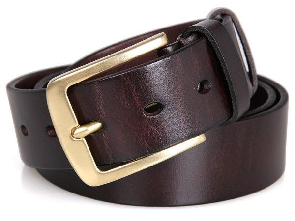 Ремень мужской Vintage 14402 джинсовый коричневый