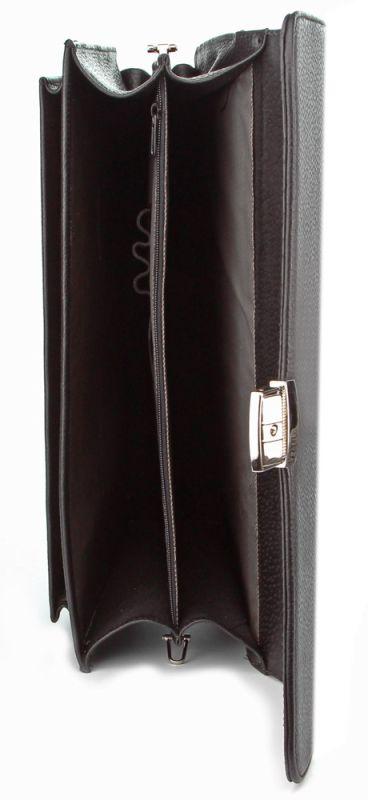 Портфель SHVIGEL 00389 из натуральной кожи черный