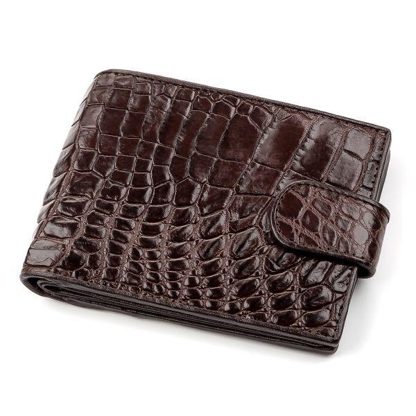 Кошелек CROCODILE LEATHER 18210 из натуральной кожи крокодила коричневый