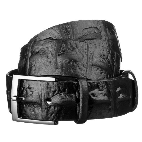 Ремень мужской SHVIGEL 15270 кожаный черный