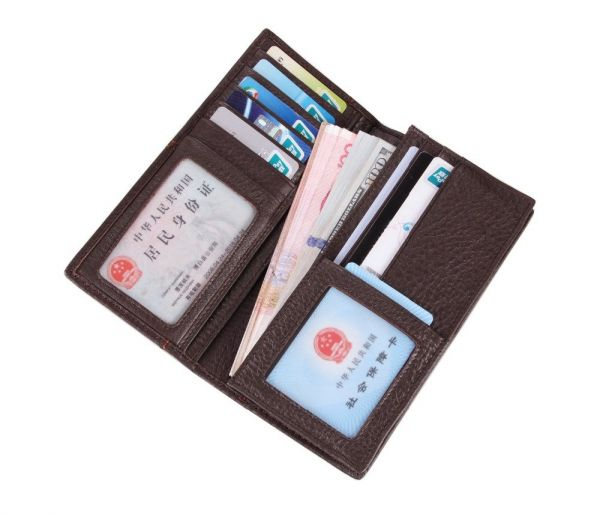 Бумажник мужской в гладкой коже Vintage 14645 коричневый