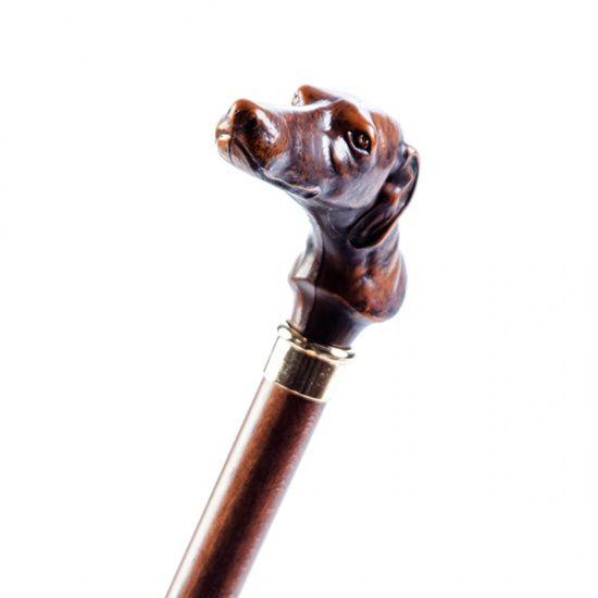 Трость Garcia ручной работы Artes дерево бук рукоять в виде головы собаки код 527