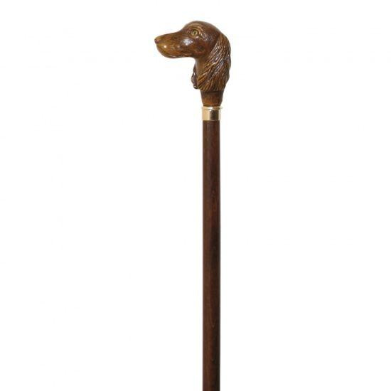 Трость Garcia ручной работы Artes рукоять в виде головы собаки код 540