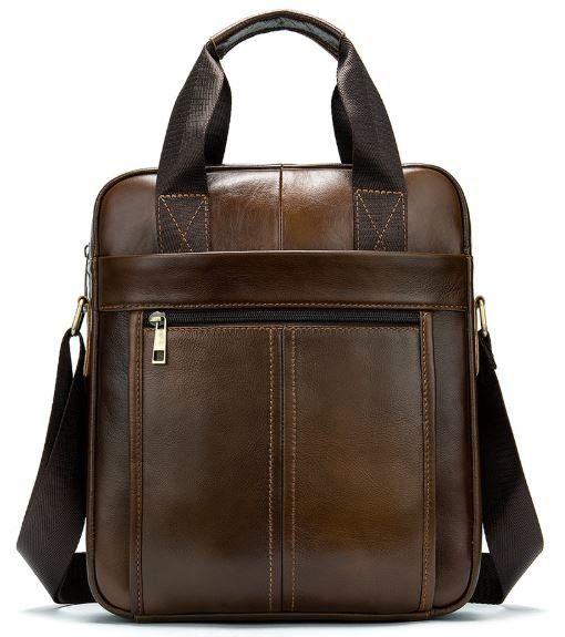 Деловая мужская сумка кожаная Vintage 14789 коричневая