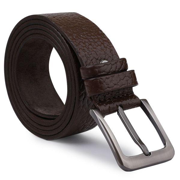 Добротный мужской ремень Vintage 20744 коричневый