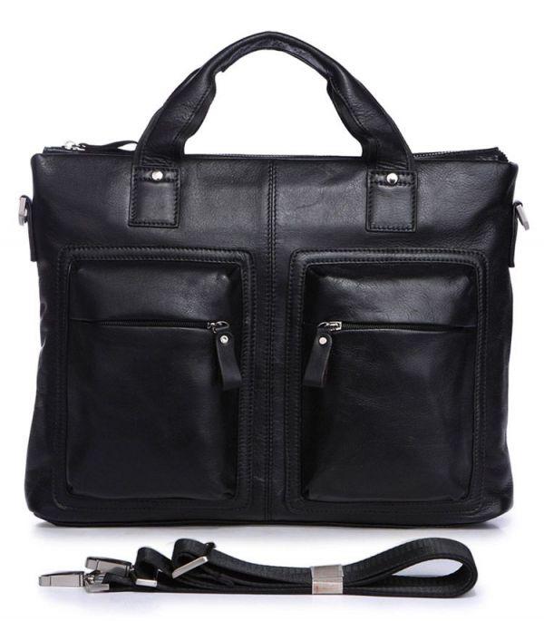 Сумка мужская Vintage 14112 для документов А4 черная