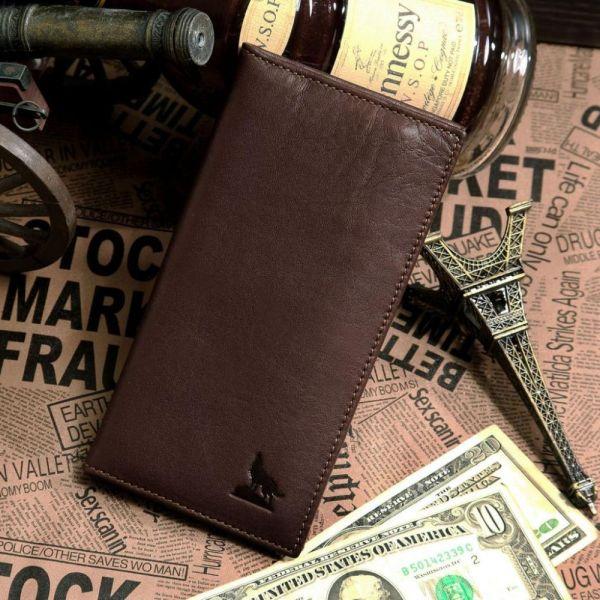 Бумажник мужской Vintage 14153 коричневый