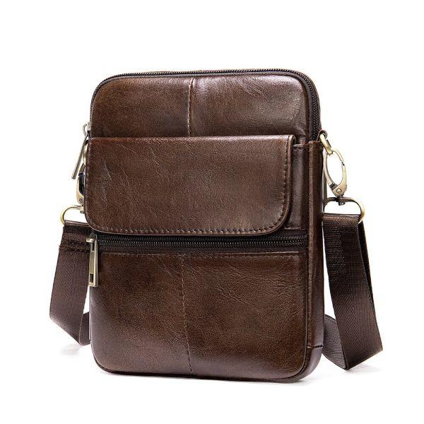 Компактная сумка кожаная 14990 Vintage коричневая