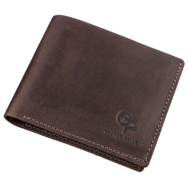 Компактное портмоне комби унисекс GRANDE PELLE 11227 темно-коричневое