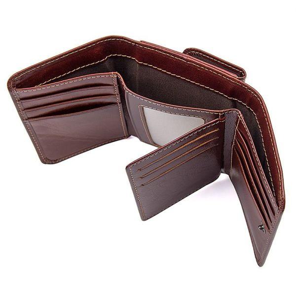 Кошелек мужской кожаный Vintage 14648 коричневый