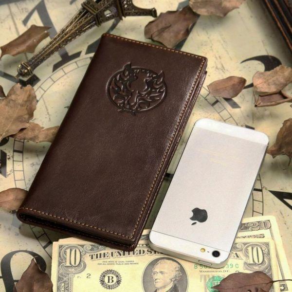 Бумажник мужской Vintage 14180 кожаный коричневый