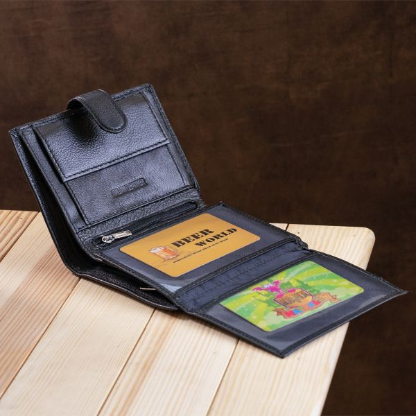 Великолепный кошелек для мужчин ST Leather 18833 черный