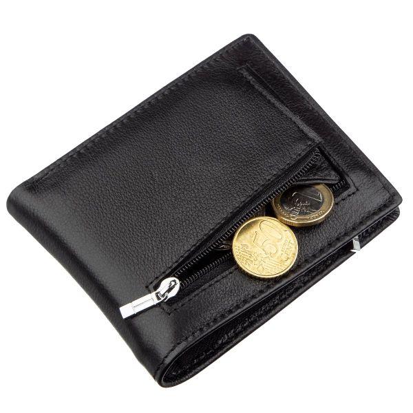 Мужское портмоне с зажимом и монетницей ST Leather 18853 черный